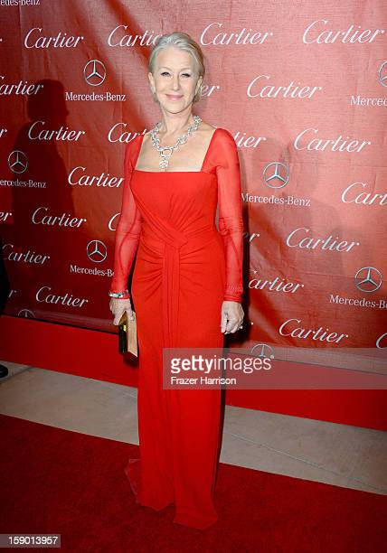 Actress Helen Mirren arrives at the 24th annual Palm Springs International Film Festival Awards Gala at the Palm Springs Convention Center on January...