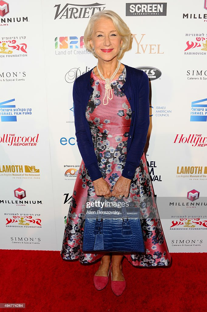 Actress Helen Mirren arrives at the 29th Israel Film Festival's Opening Night Gala at Saban Theatre on October 28, 2015 in Beverly Hills, California.