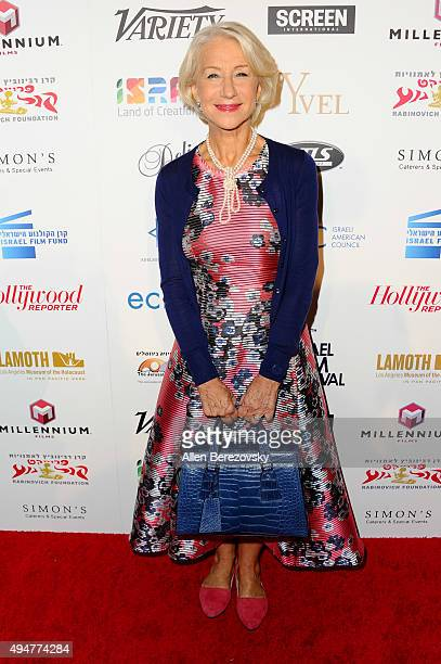 Actress Helen Mirren arrives at the 29th Israel Film Festival's Opening Night Gala at Saban Theatre on October 28 2015 in Beverly Hills California