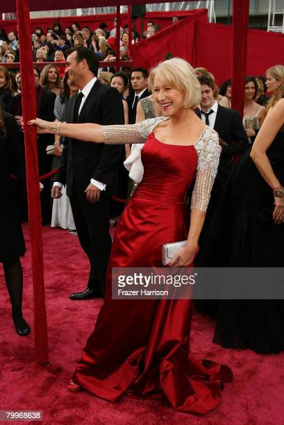 Actress Helen Mirren arrives at the 80th Annual Academy Awards held at the Kodak Theatre on February 24 2008 in Hollywood California