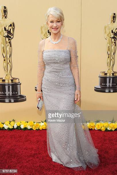 Actress Helen Mirren arrives at the 82nd Annual Academy Awards at the Kodak Theatre on March 7 2010 in Hollywood California