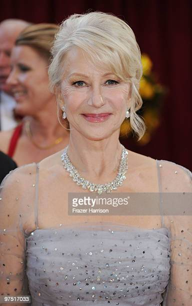 Actress Helen Mirren arrives at the 82nd Annual Academy Awards held at Kodak Theatre on March 7 2010 in Hollywood California