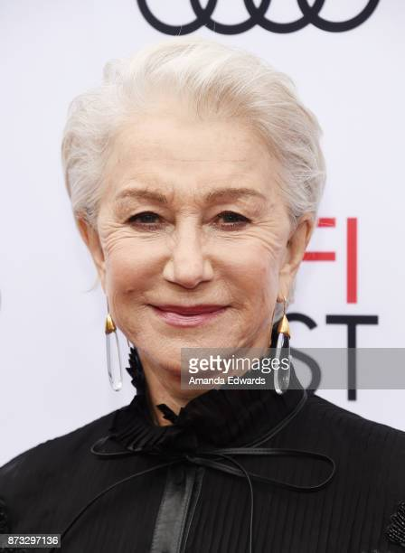 Actress Helen Mirren arrives at the AFI FEST 2017 Presented By Audi screening of 'The Leisure Seeker' at the Egyptian Theatre on November 12 2017 in...