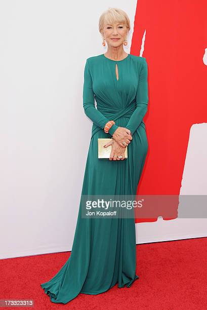 """Actress Helen Mirren arrives at the Los Angeles Premiere """"Red 2"""" at Westwood Village on July 11, 2013 in Los Angeles, California."""