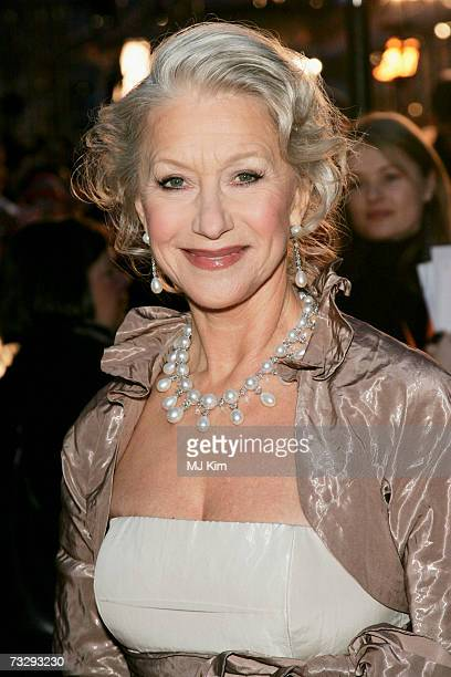 Actress Helen Mirren arrives at the Orange British Academy Film Awards at the Royal Opera House on February 11 2007 in London England