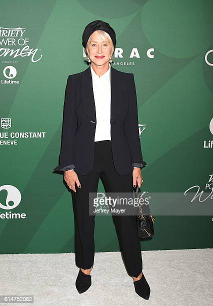 Actress Helen Mirren arrives at the Variety's Power Of Women Luncheon 2016 at the Beverly Wilshire Four Seasons Hotel on October 14 2016 in Beverly...
