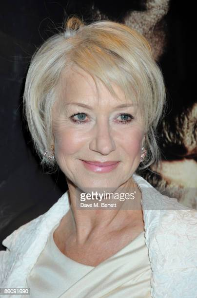 Actress Helen Mirren arrives at the World Premiere of 'State of Play' at the Empire Leicester Square on April 21 2009 in London England
