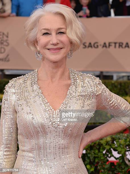 Actress Helen Mirren attend the 22nd Annual Screen Actors Guild Awards at The Shrine Auditorium on January 30 2016 in Los Angeles California