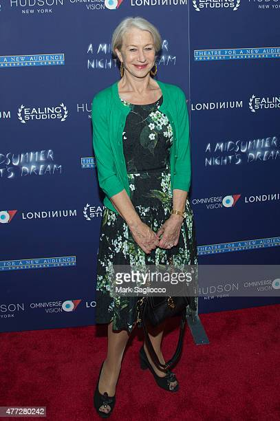 Actress Helen Mirren attends A Midsummer Night's Dream New York premiere at DGA Theater on June 15 2015 in New York City