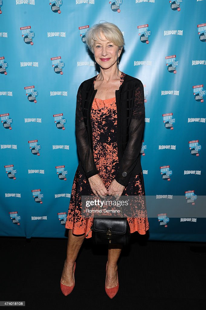 Actress Helen Mirren attends Broadway.com Audience Choice Awards at Lounge 48 on May 19, 2015 in New York City.