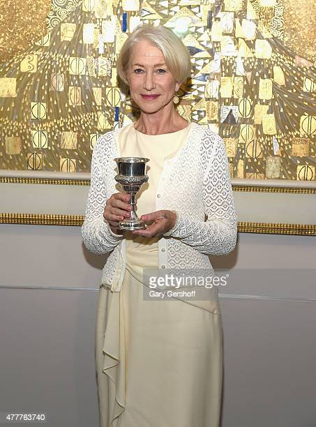 Actress Helen Mirren attends Helen Mirren Honored By The World Jewish Congress For Her Role In Woman In Gold at Neue Galerie on June 19 2015 in New...