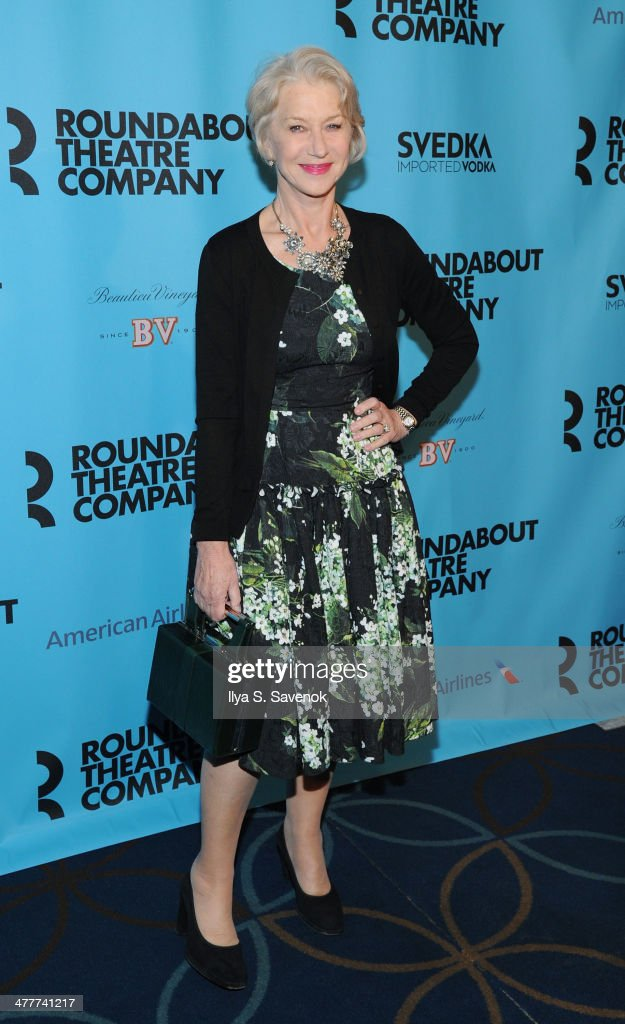 Actress Helen Mirren attends Roundabout Theatre Company's 2014 Spring Gala at Hammerstein Ballroom on March 10, 2014 in New York City.