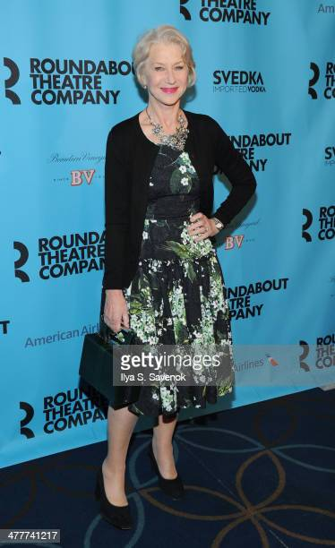 Actress Helen Mirren attends Roundabout Theatre Company's 2014 Spring Gala at Hammerstein Ballroom on March 10 2014 in New York City