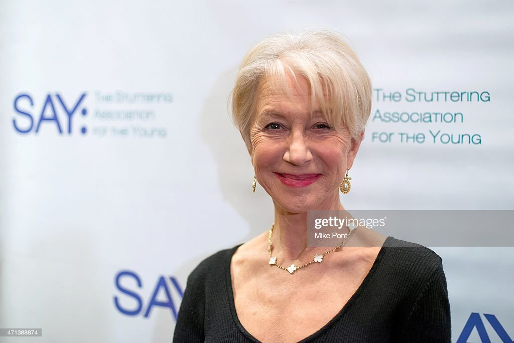 Actress Helen Mirren attends the 2015 Stuttering Association for the Young Gala at Jack H. Skirball Center for the Performing Arts on April 27, 2015 in New York City.