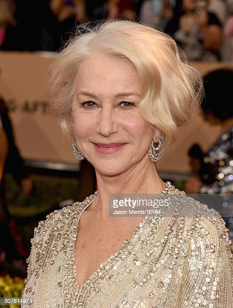 Actress Helen Mirren attends The 22nd Annual Screen Actors Guild Awards at The Shrine Auditorium on January 30 2016 in Los Angeles California...