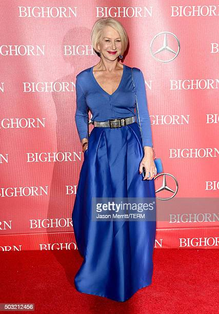 Actress Helen Mirren attends the 27th Annual Palm Springs International Film Festival Awards Gala at Palm Springs Convention Center on January 2 2016...