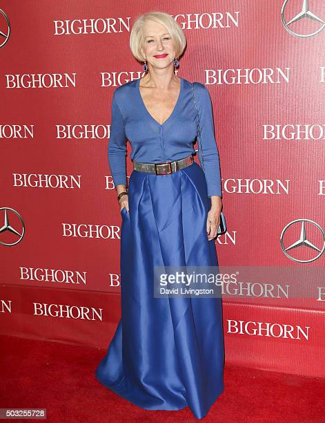Actress Helen Mirren attends the 27th Annual Palm Springs International Film Festival Awards Gala at the Palm Springs Convention Center on January 2...