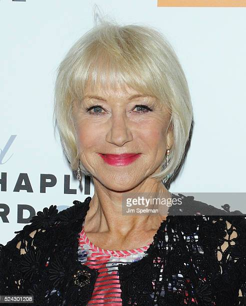 Actress Helen Mirren attends the 43rd Chaplin Award Gala on April 25 2016 in New York City