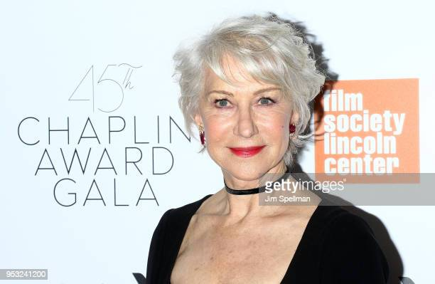 Actress Helen Mirren attends the 45th Chaplin Award Gala honoring Helen Mirren at Alice Tully Hall on April 30 2018 in New York City