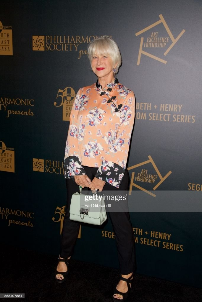 Actress Helen Mirren attends the 50th Anniversary of South Coast Plaza at Segerstrom Center For The Arts on October 30, 2017 in Costa Mesa, California.