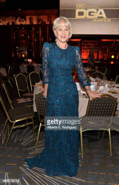 Actress Helen Mirren attends the 66th Annual Directors Guild Of America Awards held at the Hyatt Regency Century Plaza on January 25, 2014 in Century...