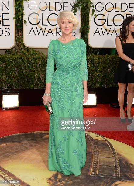 Actress Helen Mirren attends the 71st Annual Golden Globe Awards held at The Beverly Hilton Hotel on January 12, 2014 in Beverly Hills, California.