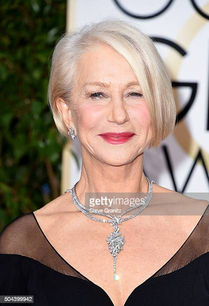 Actress Helen Mirren attends the 73rd Annual Golden Globe Awards held at the Beverly Hilton Hotel on January 10 2016 in Beverly Hills California