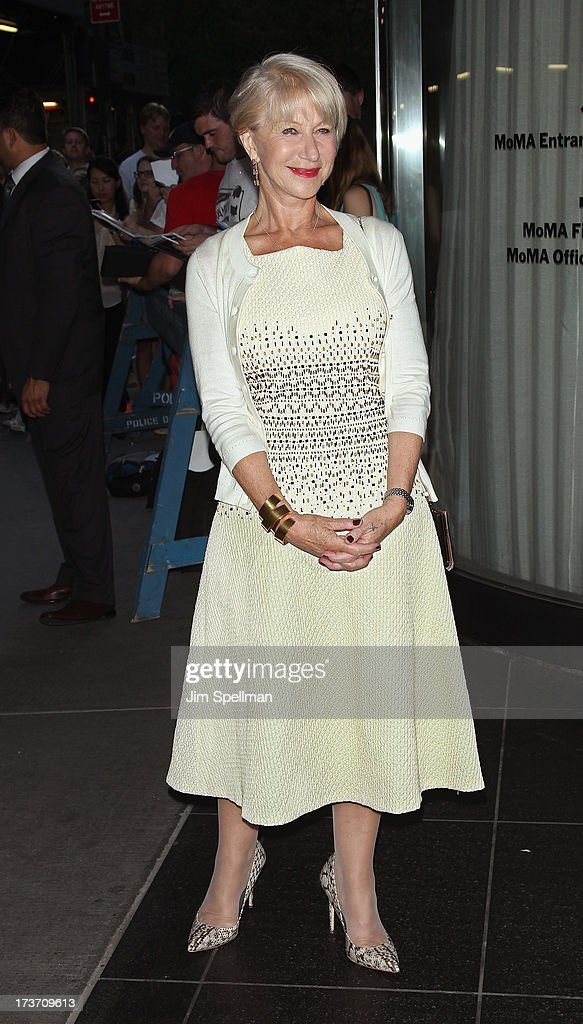 Actress Helen Mirren attends The Cinema Society & Bally screening of Summit Entertainment's 'Red 2' at the Museum of Modern Art on July 16, 2013 in New York City.