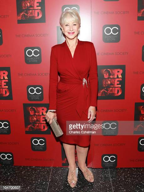 Actress Helen Mirren attends the Cinema Society OC Concept's screening of Red at The Museum of Modern Art on October 3 2010 in New York City