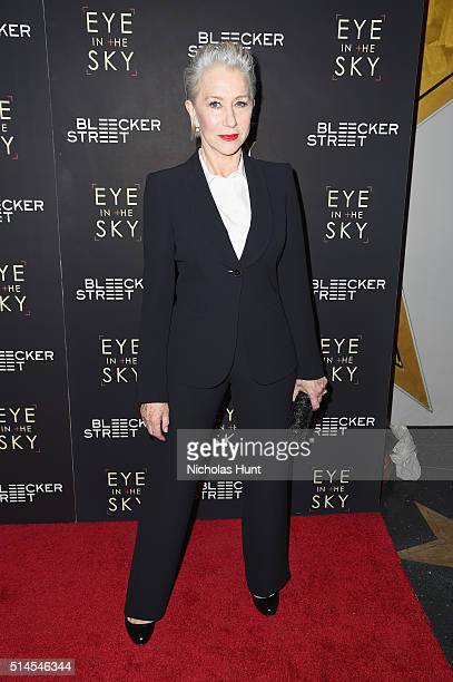 Actress Helen Mirren attends the Eye In The Sky New York Premiere at AMC Loews Lincoln Square 13 theater on March 9 2016 in New York City
