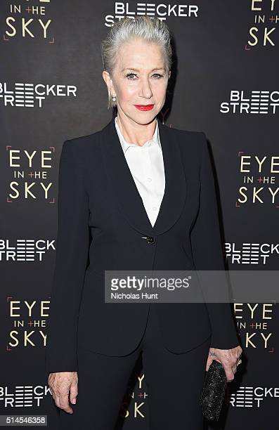 Actress Helen Mirren attends the 'Eye In The Sky' New York Premiere at AMC Loews Lincoln Square 13 theater on March 9 2016 in New York City