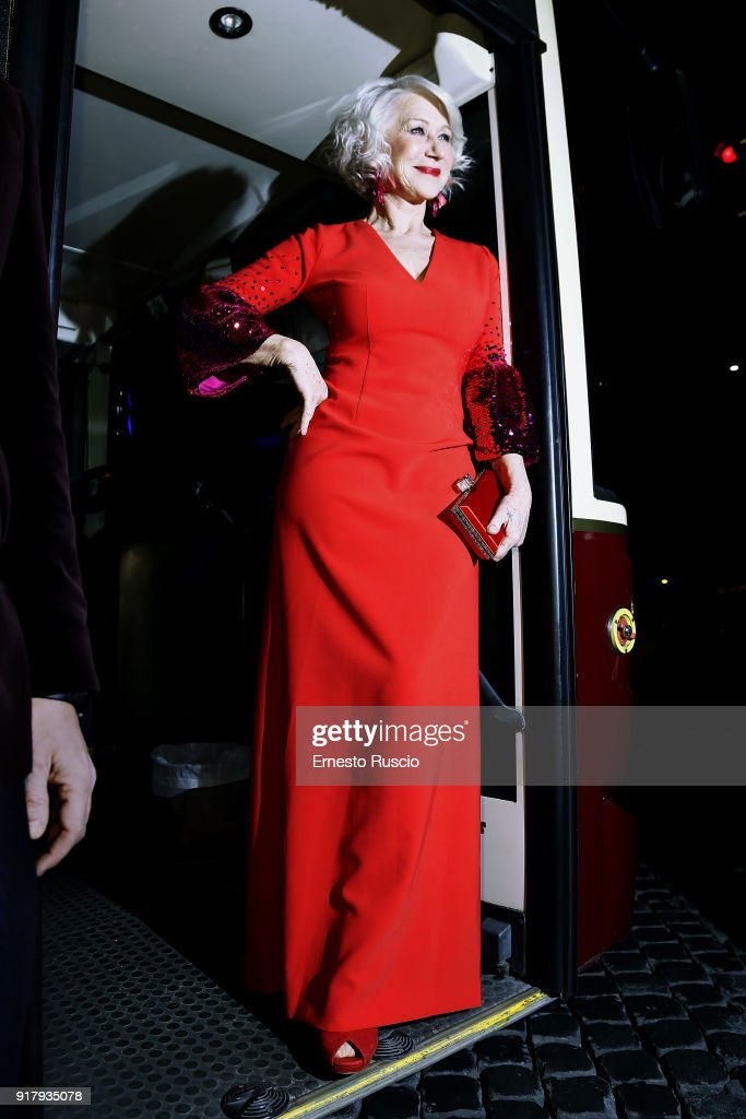 Actress Helen Mirren attends the 'La Vedova Winchester' Premiere at Cinema Adriano on February 13, 2018 in Rome, Italy.
