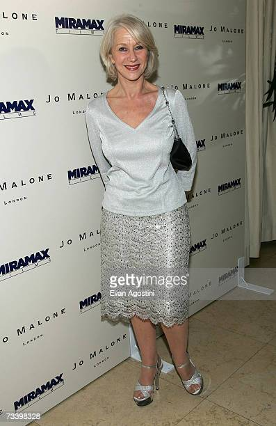 Actress Helen Mirren attends the Miramax Films preOscar party for the films 'The Queen' and 'Venus' cohosted Jo Malone London held at the Sunset...