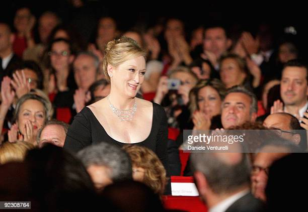 Actress Helen Mirren attends the Official Awards Ceremony on Day 9 of the 4th International Rome Film Festival held at the Auditorium Parco della...