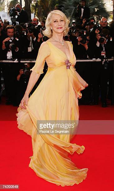 Actress Helen Mirren attends the premiere for the film 'Chacun Son Cinema' at the Palais des Festivals during the 60th International Cannes Film...