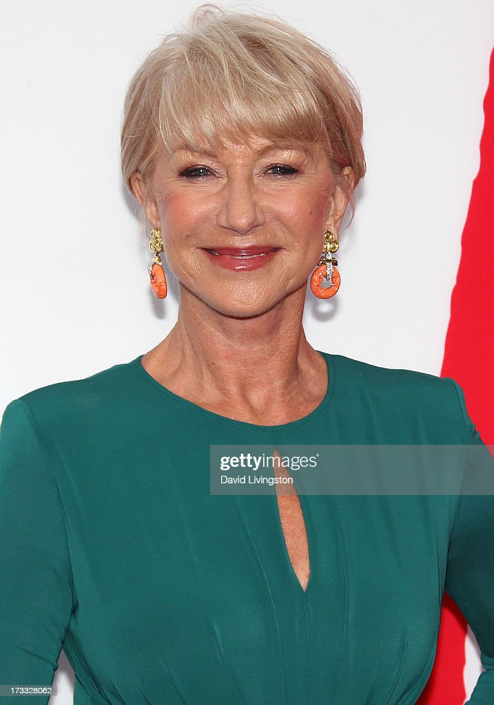 Actress Helen Mirren attends the premiere of Summit Entertainment's 'RED 2' at Westwood Village on July 11, 2013 in Los Angeles, California.