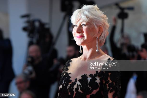 Actress Helen Mirren attends the premiere of the movie 'The Leisure Seeker' presented in competition at the 74th Venice Film Festival on September 3...