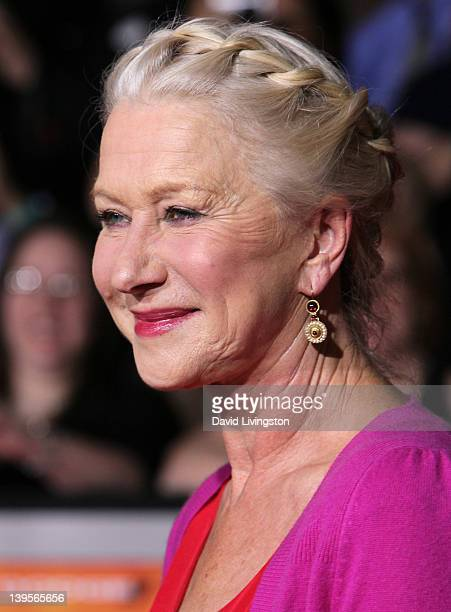 """Actress Helen Mirren attends the premiere of Walt Disney Pictures' """"John Carter"""" at Regal Cinemas L.A. Live on February 22, 2012 in Los Angeles,..."""