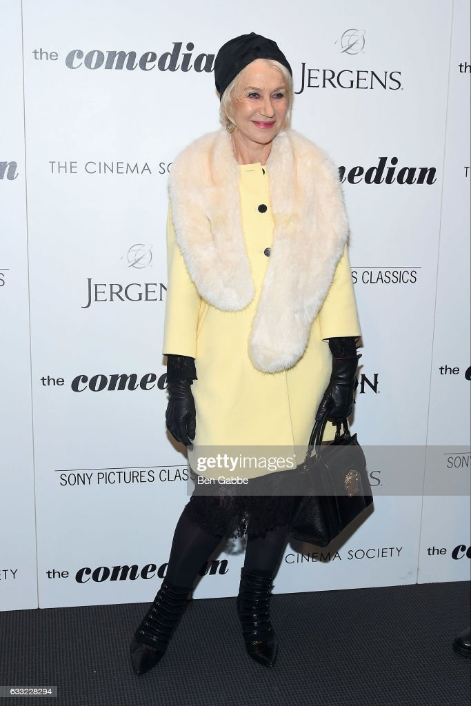 Actress Helen Mirren attends the screening of Sony Pictures Classics' 'The Comedian' hosted by The Cinema Society at The Museum of Modern Art on January 31, 2017 in New York City.
