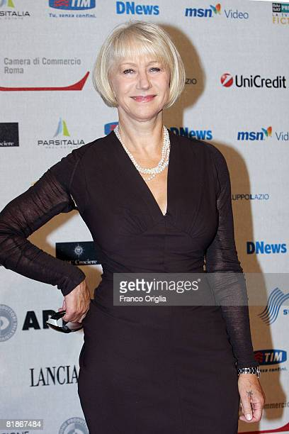 Actress Helen Mirren attends the second day of Roma Fiction Fest 2008 on July 8 2008 in Rome Italy
