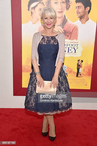 Actress Helen Mirren attends the The HundredFoot Journey New York premiere at Ziegfeld Theater on August 4 2014 in New York City