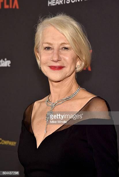 Actress Helen Mirren attends The Weinstein Company and Netflix Golden Globe Party presented with DeLeon Tequila Laura Mercier Lindt Chocolate Marie...