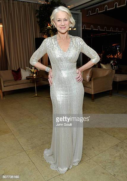 Actress Helen Mirren attends the Weinstein Company Netflix's 2016 SAG after party hosted by Absolut Elyx at Sunset Tower on January 30 2016 in West...
