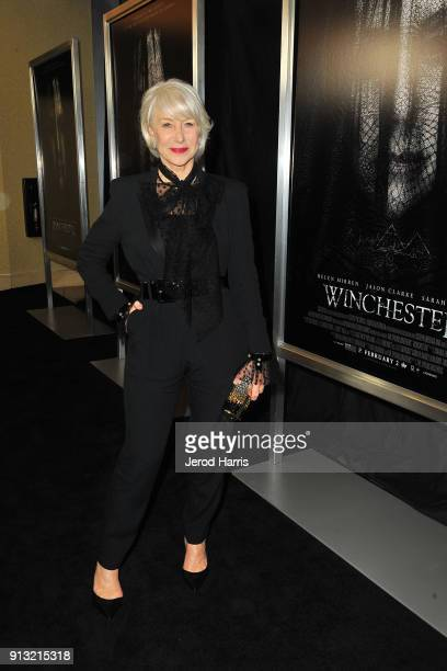 Actress Helen Mirren attends The Winchester Nationwide Psychic Reading on February 1 2018 in Los Angeles California