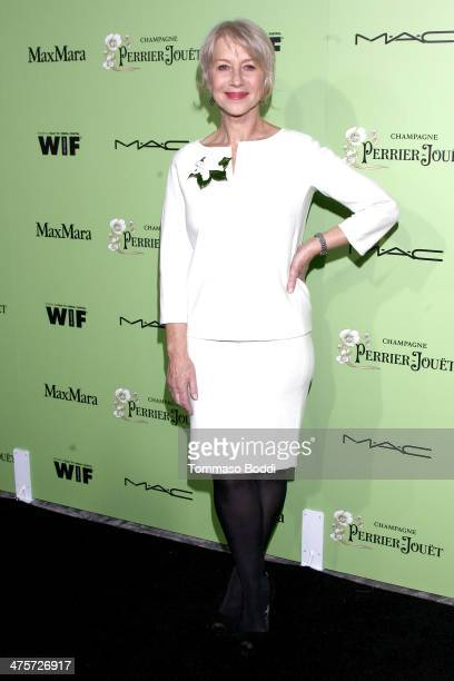 Actress Helen Mirren attends the Women In Film PreOscar cocktail party presented by PerrierJouet MAC MaxMara held at Fig Olive Melrose Place on...