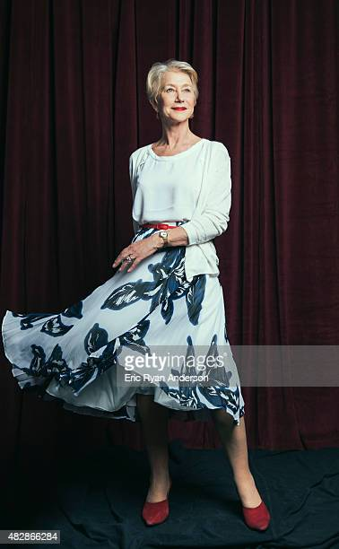 Actress Helen Mirren for The Hollywood Reporter on April 1 2015 in New York City