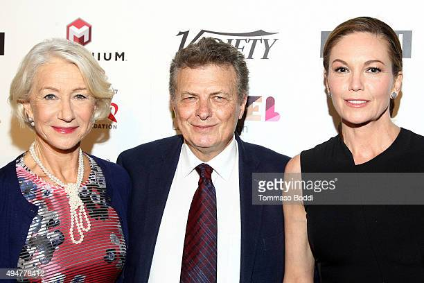 Actress Helen Mirren founder of Israel Film Festival Meir Fenigstein and actress Diane Lane attend the 29th Israel Film Festival opening night gala...