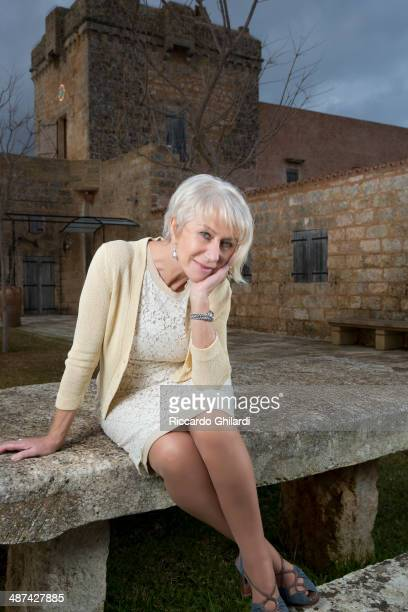 Actress Helen Mirren is photographed for Self Assignment on January 2 2014 in Rome Italy