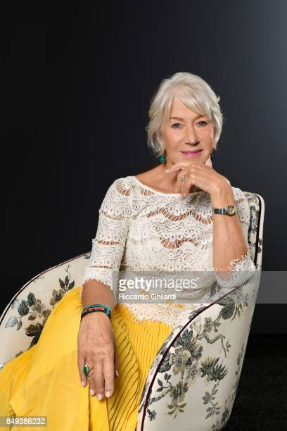 Actress Helen Mirren is photographed for Self Assignment on September 4 2017 in Venice Italy