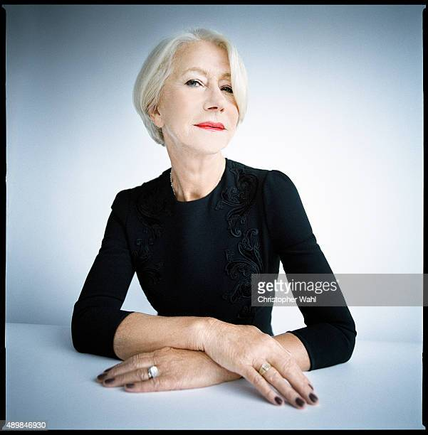 Actress Helen Mirren is photographed for The Globe and Mail on September 15 2015 in Toronto Ontario